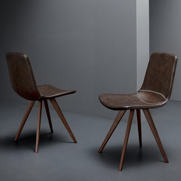 sedia imbottita struttura in massello