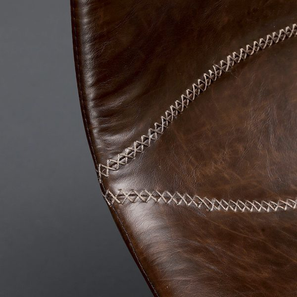 dettaglio sedia imbottita in ecopelle